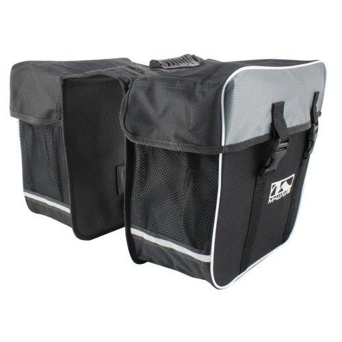 M-Wave Day Tripper Double Pannier Bags - Black, 30 Litres