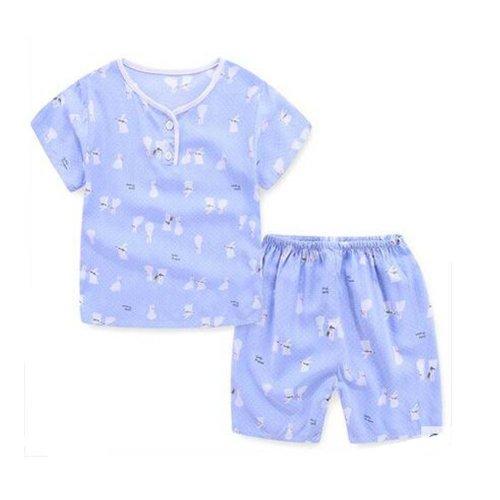 Boys Cute Cartoon Short Pajamas Sets Cotton Kids Summer Children Sleepwear