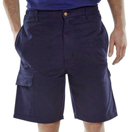 "Click CLCPSN30 Cargo Pocket Work Shorts Navy Blue 30"""
