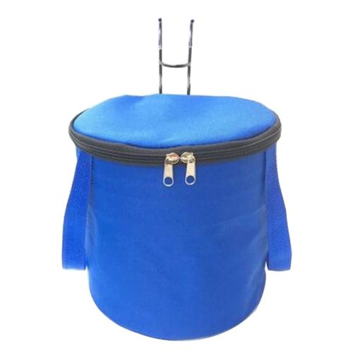 [E] Waterproof Canvas Bicycle Basket Foldable Lidded Basket for Bike